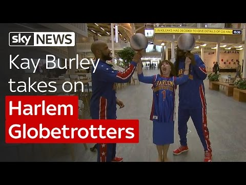Harlem Globetrotters teach Kay Burley a trick or two