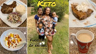 """WHAT I EAT IN A DAY TO LOSE WEIGHT  Keto Coconut Caramel """"Apple"""" Crisp  Jerk Pork Chops Keto Recipes"""