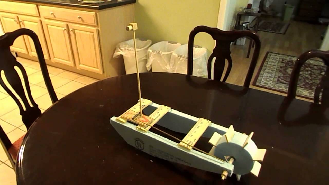 mouse trap boat with pulley system