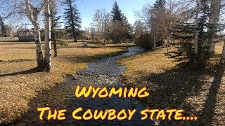 Wyoming, the cowboy state....  Truck stops along the Oregon trail...