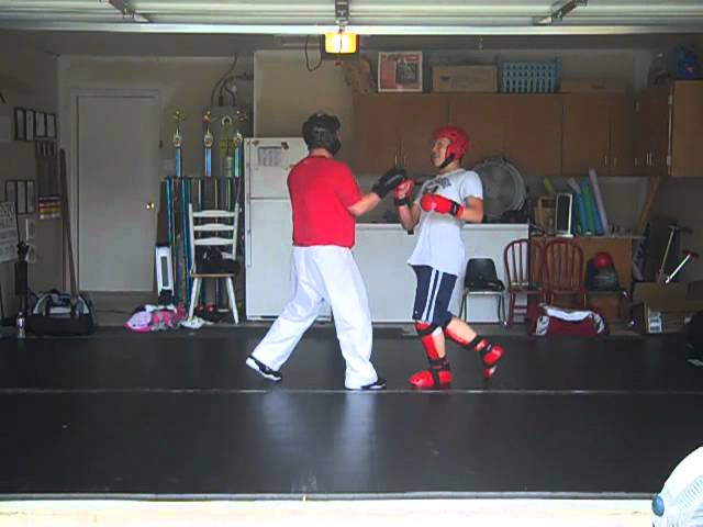 Student Sparring at Bowley Kenpo Karate