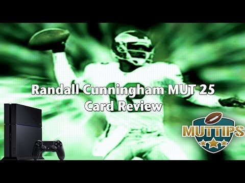 Madden 25 Ultimate Team Card Reviews   Randall Cunningham Legend Card   MUT Tips