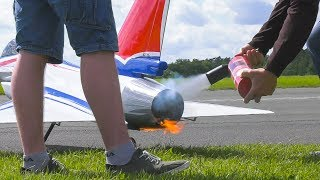 FIRE EXTINGUISHER IN USE!! RC MODEL JET CHENGDU J-10 DEMO FLIGHT*RC AIRPLANE J-10 CARF