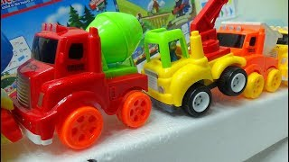 Nursery Time - Truck toys, kid toys on slide