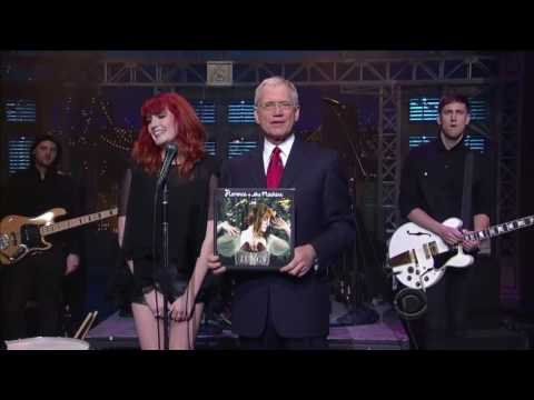 Florence and the Machine Kiss With a Fist on Letterman 10 27 2009