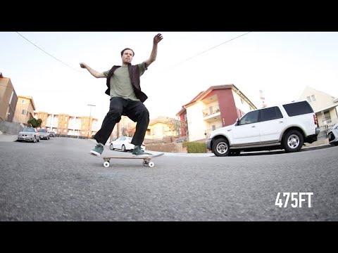 SLIDING 500 FEET On Bones Wheels Easy Street Formula With Nate Greenwood