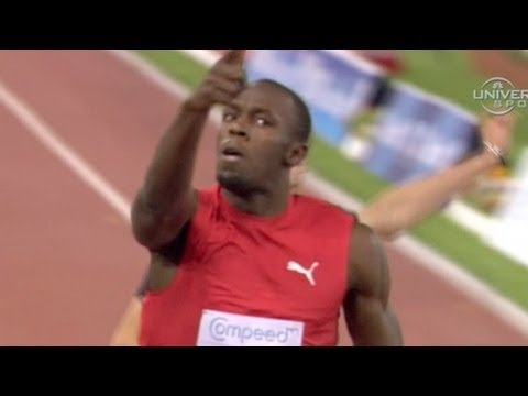 Usain Bolt runs world leading 9.76 over Powell at 2012 Rome Diamond League (Golden Gala)