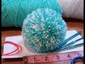 4inch pompom using folded paper