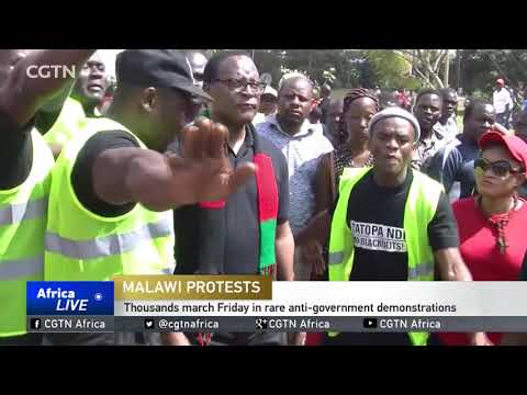 Thousands march Friday in rare anti-government demonstrations in Malawi