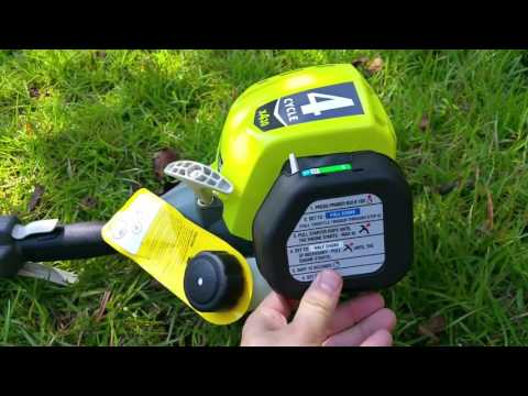 Ryobi 4-Cycle 30cc Attachment Capable Straight Shaft Gas Trimmer Review Starting Problem Explained