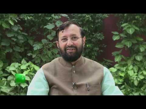 Shri Prakash Javdekar on the launch of Green TV