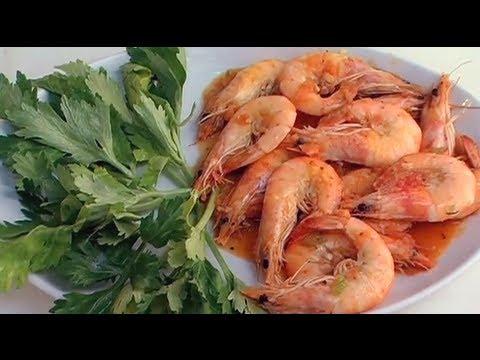 Ricette di pesce: GAMBERONI alla Vernaccia_uChef_TV