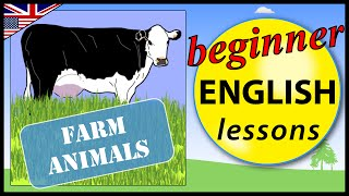 Farm animals in English, Beginner English Lessons for Children