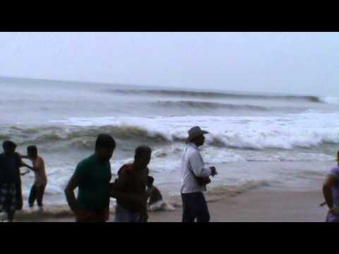 Amazing Continuous Wave Of The BAY OF BENGAL,Odisha..Puri.