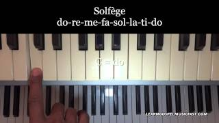 Piano Lesson 13 - DO RE ME FA SOL LA TI DO Tutorial
