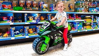 Play this video Deni doing Shopping in Toy Store Lets go shopping song for kids