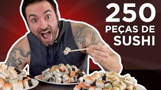 Prejuízo no rodízio de sushi! (250 peças, 4kg, 7040kcal) [Especial 200k]
