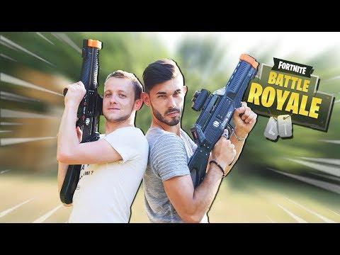 DUEL DE LASER GAME EN EXTÉRIEUR ! (FORTNITE IRL) thumbnail