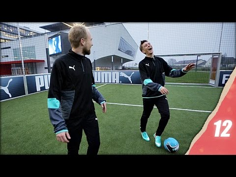 Funny Football Challenges At Puma Headquarters - Christmas In Unisport 2014 Episode 12 video
