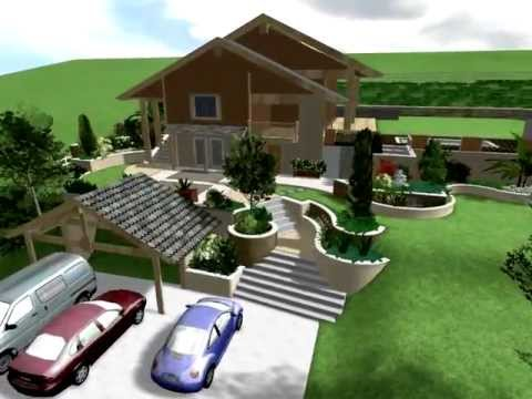 Creation de jardins de pente raide youtube for Amenagement jardin en pente