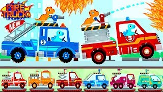 Fire Truck Rescue For Kids | New Dinosaur Fire Fighter & Fire Trucks | Videos For Toddlers