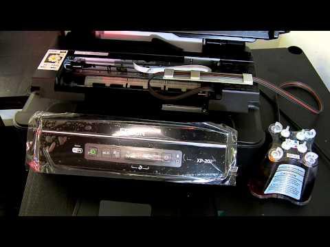 Ciss continuous ink system fits Epson Expression XP-202 . XP-205 XP202. XP205
