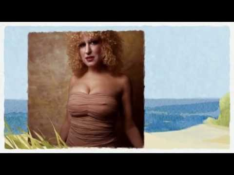 Bette Midler - Yellow Beach Umbrella
