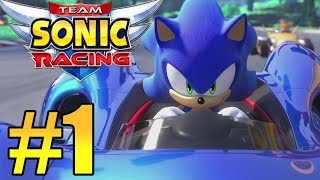 Team Sonic Racing Gameplay Walkthrough Part 1 - Chapter 1 ( Xbox One X)