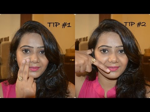 How to apply blush correctly   Two Finger Rule   Basic beginners tutorial    MakeupbySakshi