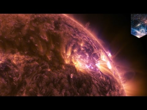 Awesome plasma burst from sun in mid-level solar flare captured by NASA - TomoNews