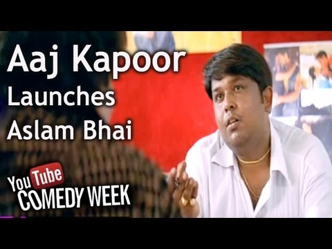 Hindi Film - Lklkbk - Comedy Scene - Johny Lever - Aaj Kapoor Launches Aslam Bhai video
