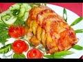 Курица, запеченная с овощами (рецепт вторых блюд из мяса).