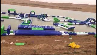 Inflatable Floating Water Park in Lake from China Inflatable Aqua Park Water Park Obstacle Course