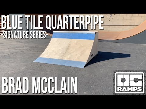 Blue Tile Quarterpipe - Brad McClain's Signature Series by OC Ramps