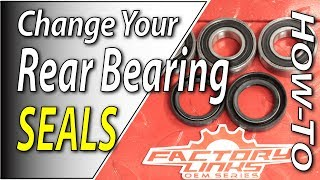 Dirt Bike Rear Wheel Bearing Seal Change | Fix Your Dirt Bike.com