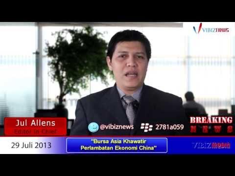 Bursa Asia Khawatir Perlambatan Ekonomi China, Vibiznews 29 Juli 2013