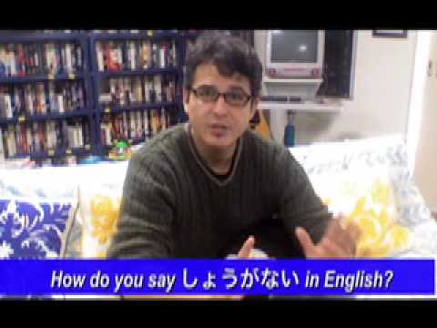 How do you say in しょうがない in English?
