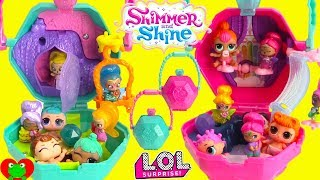 Shimmer and Shine Flower Sprites and Rainbow Zahramay Playset Surprises