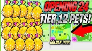OPENING 24 TIER 12 PETS IN PET SIMULATOR!! *130 Billion Coins* (Roblox)