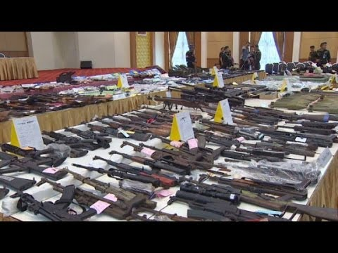 Thailand's military seizes thousands of guns