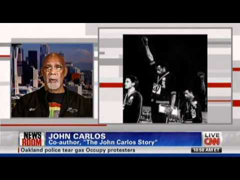 Former Olympian John Carlos Joins Occupy Wall Street Movement OWS