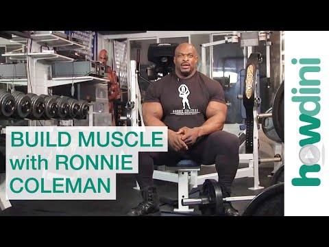 Body Building Tips: How To Build Muscle With Ronnie Coleman video