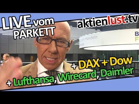 DAX, Dow | Lufthansa, Wirecard, Daimler | Mick Knauff