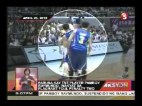Parusa kay TNT player Pamboy Raymundo, inaakyat sa plagrant foul penalty two