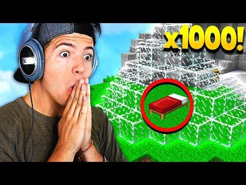 OP 1,000 GLASS BED DEFENSE! (Minecraft Bedwars with Jesse)