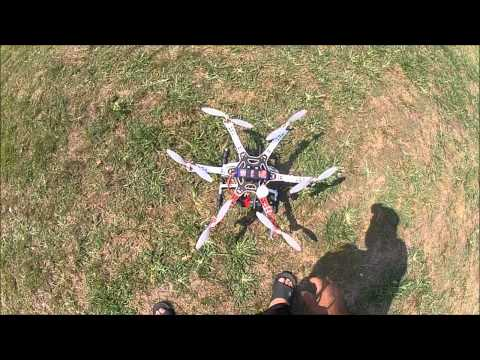 DJI F550 Hexacopter with NAZA+GPS first successful flight part #1