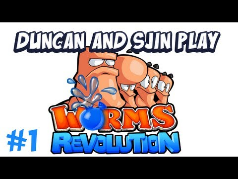 Duncan and Sjin play - Worms Revolution (Part 1)