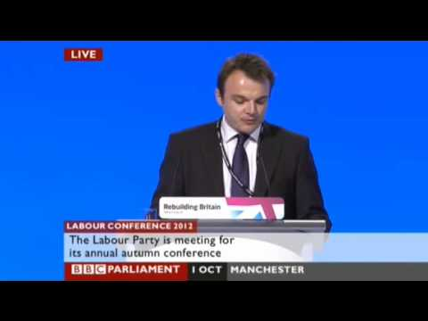 Clair Hawkins & Tristan Osborne at the Labour Party conference 2012