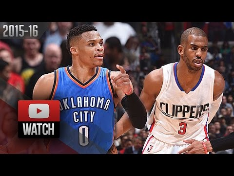 Chris Paul vs Russell Westbrook PG Duel Highlights (2016.03.02) Clippers vs Thunder - ELITE!