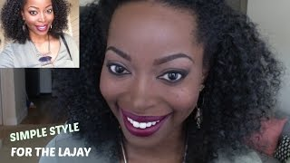 SIMPLE WAY TO STYLE MY LAJAY  HALF UNIT | How to  blend natural hair with a wig